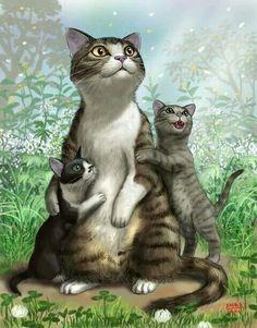 Mama e hijitos