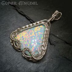 Kyocera Opal in sterling silver by Julie Hulick