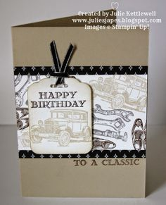 Stampin' Up! UK Independent Demonstrator - Julie Kettlewell: Guy Greetings