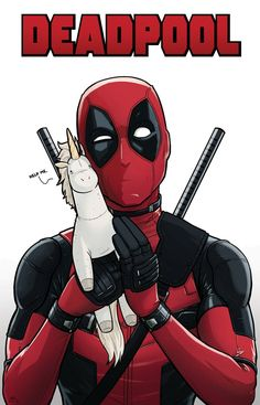 Deadpool with Unicorn