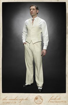 Good men's outfit idea although only if you can stand wearing all this in the heat.
