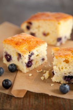 Paula Deen Sweet Blueberry Cornbread- A twist on your typical breakfast!
