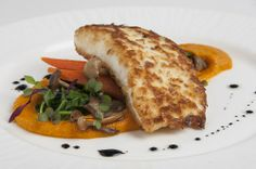 halibut pan seared halibut with rock hazelnut crusted halibut over ...