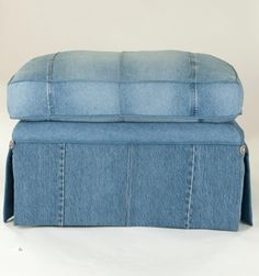 recycle old jeans to recover furniture