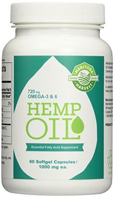 Manitoba Harvest Hemp Foods Hemp Oil Soft Gels, 1,000 mg, 60 Count //Price: $8.29 & FREE Shipping //     #cannabisstrains