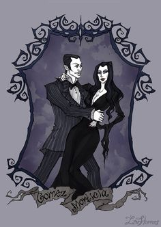 Gomez and Morticia Addams by IrenHorrors.deviantart.com on @DeviantArt