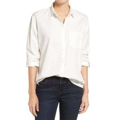 online shopping for Madewell Drapey Oversize Boyshirt from top store. See new offer for Madewell Drapey Oversize Boyshirt Best White Shirt, Classic White Shirt, Button Down Outfit, White Button Down Shirt, Button Downs, White Shirt Outfits, White Shirts Women, White Blouses, Simple Summer Outfits
