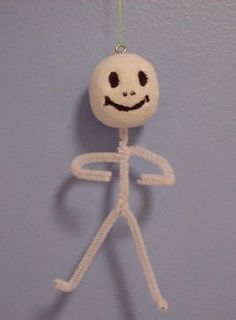 Pipecleaner Skeleton - Halloween craft project