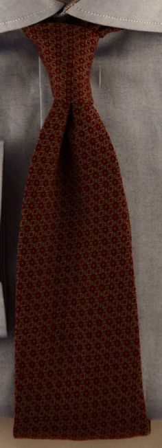 Timeless Quality Wine Color Handmade Silk Necktie (Close-Up View) #Mens #Fashion