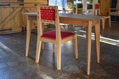 Bergen Desk and Bergen Chair Bespoke Furniture, Solid Wood Furniture, Furniture Design, South African Homes, Solid Wood Flooring, Woodworking Furniture, Dining Chairs, Bergen, Desk