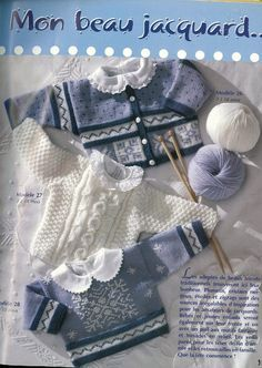 Album sous forme d& Baby Clothes Patterns, Baby Knitting Patterns, Doll Patterns, Knitting Books, Knitting For Kids, Knitting Projects, Crochet Motif, Knit Crochet, Crochet Doll Clothes