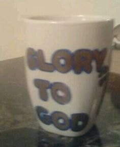 Glory To God Blue and Gold