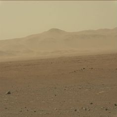 Another shot of the Gale crater rim from curiosity. This one is in colour.