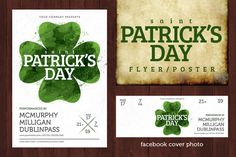 Check out St. Patricks Day Poster-Watercolor by Nathan Knight Design on Creative Market