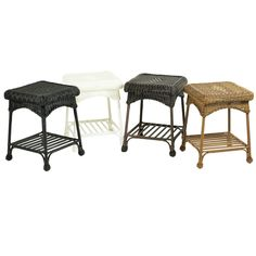 Outdoor Wicker Patio End Table   Overstock.com Shopping - Big Discounts on Wicker Lane Coffee & Side Tables