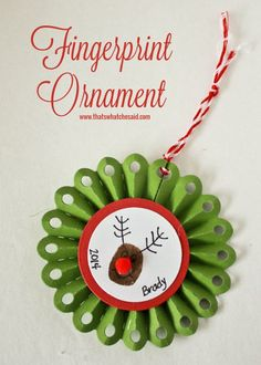 Finger print ornament made with a Silhouette at thatswhatchesaid.com