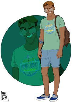 Disney University - Milo by on deviantART. Atlantis: The Lost Empire. Kida Disney, Disney Style, Disney Love, Disney Magic, Disney Couples, Disney Princesses, Pocket Princesses, Disney University, Monster University