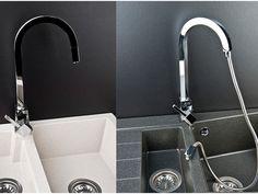 PN-Pueblo 1300 - single handle kitchen faucet for your home External Doors, Kitchen Faucets, High Quality Furniture, Water Flow, Home Accessories, Chrome, Ceramics, Faucets, Faucet Kitchen