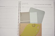 paint chips, painting records, paint colors, home organization journal www.shackpack.net Organization Journal, Filing System, Chips, Old Things, How To Plan, House, Painting, Potato Chip, Paintings