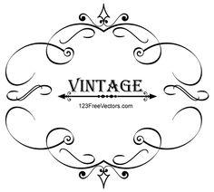 Marco de caligrafía Vintage, free vector - 365PSD.com
