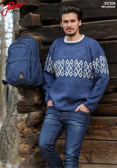 Knitted men's sweater.