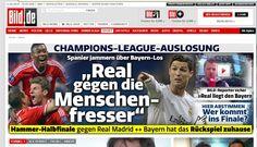 Real Madrid vs Bayern. Its tough t predict who will win.