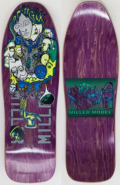 Chris Miller. my old deck in early 90s in green not purple