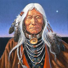 Native American Indian Eldest of the Elders ~ by Charles Frizzell