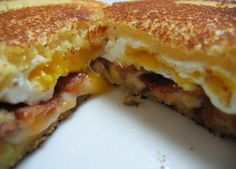 Breakfast Grilled Cheese (Microwave, Oven, Stove Top)