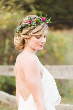Wedding Ideas: How to Plan a Rustic Wedding - undo wedding hairstyle; Ashley Caroline Photography