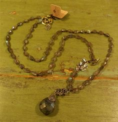 Love Heals Obama Sterling Silver and Labradorite Necklace