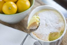 Meyer Lemon Pudding Cake Recipe | Vintage Mixer