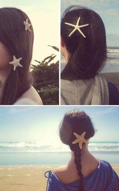 ¿No os parece original una estrella de mar como tocado para una novia playera? #innovias #novias