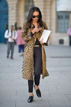 Paris Fall 2012 Couture #streetstyle #leopard