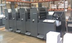 Technigraphics Inc. - 251-653-7110 - 2007 Used Heidelberg Printmaster PM52-4P 14 x 20 inch four color offset printing press Classic Center console Autoplate 2/2 or 4/0 convertible perfector
