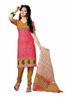 Fabdeal Indian Designer Pure Cotton Peach & Orange Printed Salwar Fabdeal, http://www.amazon.de/dp/B00IRBASUQ/ref=cm_sw_r_pi_dp_6v8otb07DDFS7