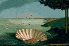 """Para esta tarea había que elegir una obra y """"deshabitarla"""", vaciarla de gente, mediante la herramienta de  """"clonar"""" del programa Photoshop. Y yo escogí el cuadro del Nacimiento de Venus del artista Botticelli para """"deshabitarlo o vaciarlo""""."""