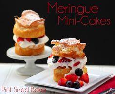 Meringue Mini-Cakes #food
