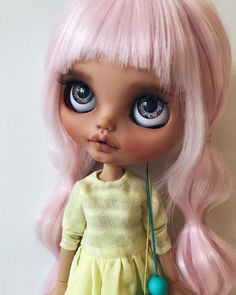 Ooak Dolls, Blythe Dolls, Barbie Dolls, Pink Sweets, Little Girl Toys, Real Doll, Valley Of The Dolls, Selfies, Hair Color Blue