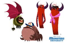 Monstres academy - the art of disney character design азбука Character Concept, Character Art, Concept Art, Game Concept, Walt Disney, Disney Art, Disney Pixar, Cartoon Monsters, Cute Monsters