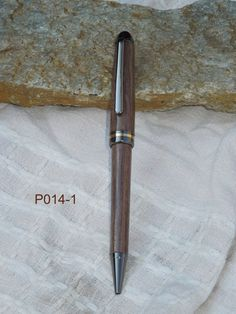 Walnut Designer Gun Metal  Twist Pen P014 by Billswoodturning, $15.00