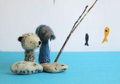 Lazy Animals; ByKoseli. Images via Ayelet Gazit's adorableshop.
