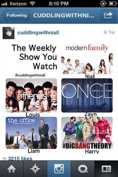 Weekly show you watch. I love all if these shows!!!