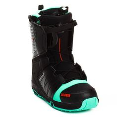 Salomon Faction FS Snowboard Boots 2012 - Size:7.0-Black/Mint/Black by Salomon. $89.95. Salomon Faction FS Snowboard Boots 2012 - The Faction FS snowboard boot from Salomon is one vicious beast that won't bite your ankle or your budget. This boot features Salomon's Speed Powerlace system that'll have you lacing up faster than Superman. In case you want to fly like him too, a Stomp outsole and feel good liner will give you the protection and comfort you need when you st...