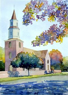 Bruton Parish Church by Don Gore (dgdraws), via Flickr