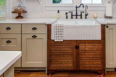 Clinton Modern Farmhouse — Sticks 2 Stones Design :: Custom Cabinetry in Knoxville Tennessee Custom Kitchen Cabinets, Kitchen Cabinets In Bathroom, Custom Cabinetry, Kitchen Countertops, Modern Farmhouse Design, Modern Farmhouse Kitchens, Farmhouse Sinks, Farmhouse Style, Sink Design