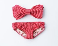 Striped bow bathing suit!!!