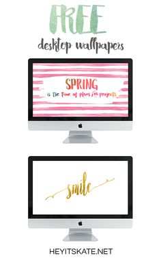 Hey It's Kate: Two FREE Spring-Themed Destop Wallpapers