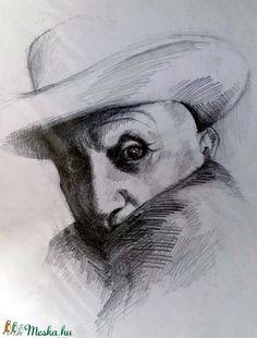 Picasso kalapban (Nana83) - Meska.hu Picasso, Techno, Artwork, Painting, Art Work, Work Of Art, Auguste Rodin Artwork, Painting Art, Paintings