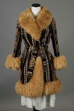 M/L 70s Vintage Victoria Magenta Suede Leather Coat w/ White Fur ...